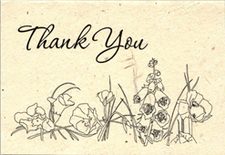 seeded thank you card
