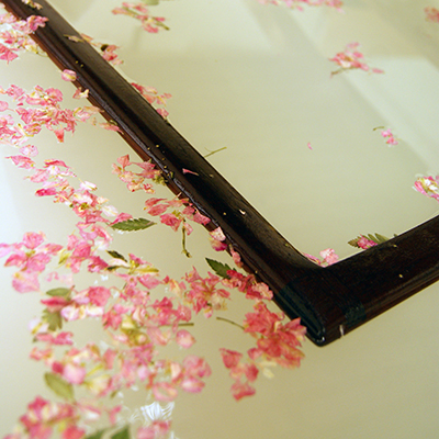 handmade paper making with seeds and petals