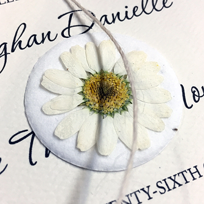 daisy flower seed paper decorating stickers